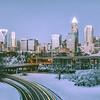 Rare winter scenery around charlotte north carolina