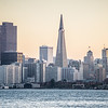 sunrise over san francisco city skyline