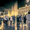 November 2017 Las Vegas Nevada - Scenes around bellagio resort hotel after sunset hours