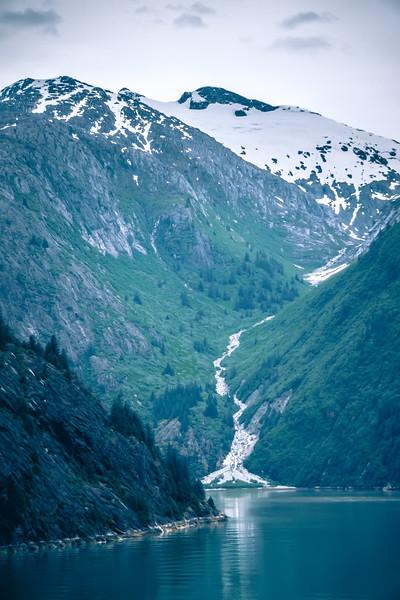 Waterfall in Tracy Arm Fjord, Alaska