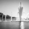 The U.S. National World War II Memorial in Washington DC, USA. It commemorates Americans who served in the armed forces and as civilians during World War II.