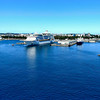 cruise  ship and victoria bc skyline