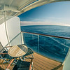cruise ship deck or balcony on trip to alaska