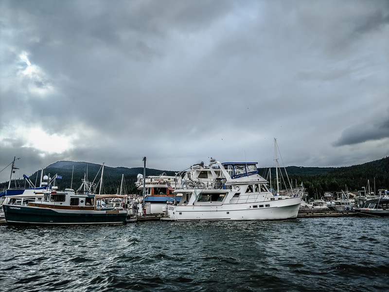 Commercial crab fishing vessel near Juneau, Alaska