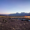 long exposure shot at sunset in red rock canyon near las vegas