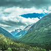beautiful rocky mountains in june in whitepass near skagway alaska