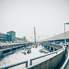 snowy weather conditions around charlotte airport in north carolina