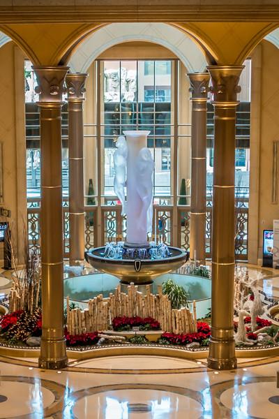 interior halls and decorations around las vegas nevada hotels