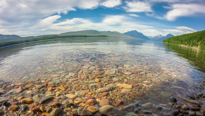 Lake McDonald in Glacier National Park at sunset