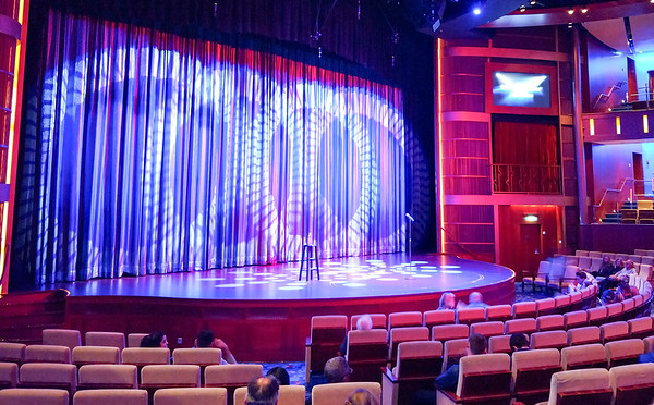 auditorium and lights prepared for the show to begin on cruise ship