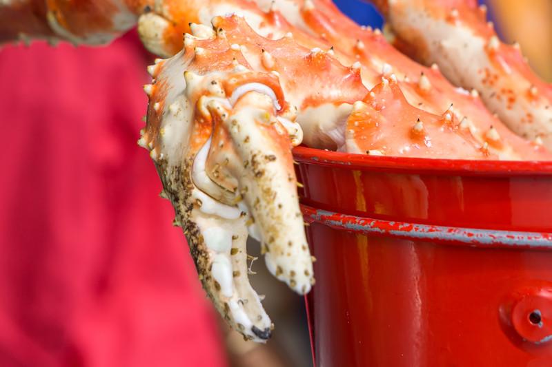 tasty steamed king crab legs ready to eat in alaska