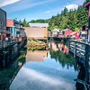 old historic town of ketchikan alaska downtown