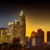 charlotte night to day skyline