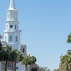 St. Michael Church in historic downtown of Charleston South Carolina