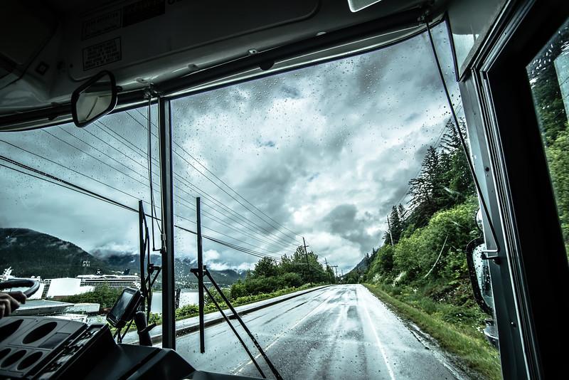 riding on bus in juneau alaska