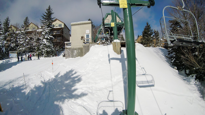 winter skiing season scenes at snowshoe mountain west viginia