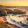 USA California pacific ocean coast shoreline