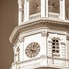 Historic church steeple in charleston south carolina historic district