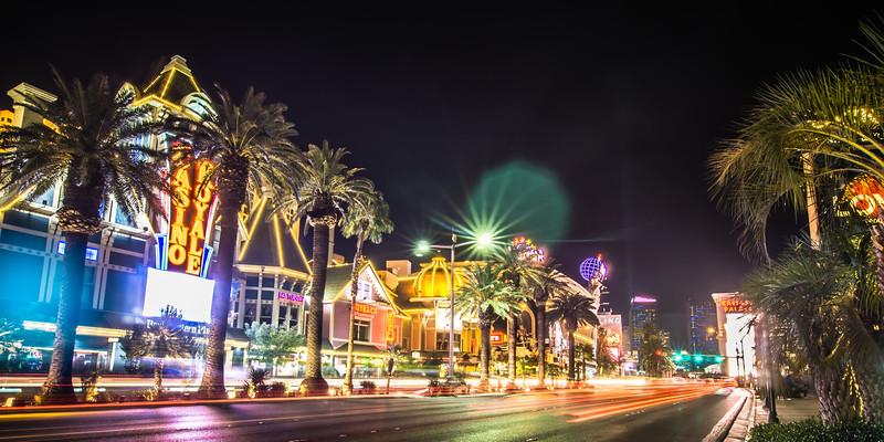 las vegas nevada city skyline and vegas strip at night