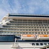 on deck of large cruise ship in pacific ocean near alaska