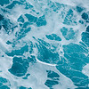 blue foaming water ocean background
