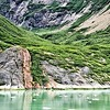 Waterfall in Tracy Arm Fjord, Alaska