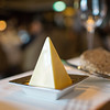 romantic setup appetizer with butter stick pyramid and bread