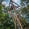 wooden climbing tower for recreation
