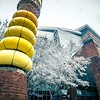 snowy winter weather around uptown charlotte north carolina