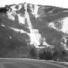 view of sugar mountain in north carolina from road