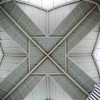 interesting ceiling pattern in mountain village pool facility