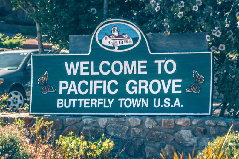 welcome to pacific grove california welcome sign