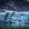 Sawyer Glacier at Tracy Arm Fjord in alaska panhandle