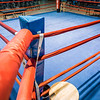 boxing ring arena in gym before action
