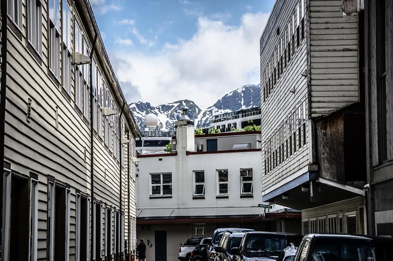 skagway alaska in june, usa northern town near canada
