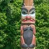 totems art and carvings at saxman village in ketchikan alaska