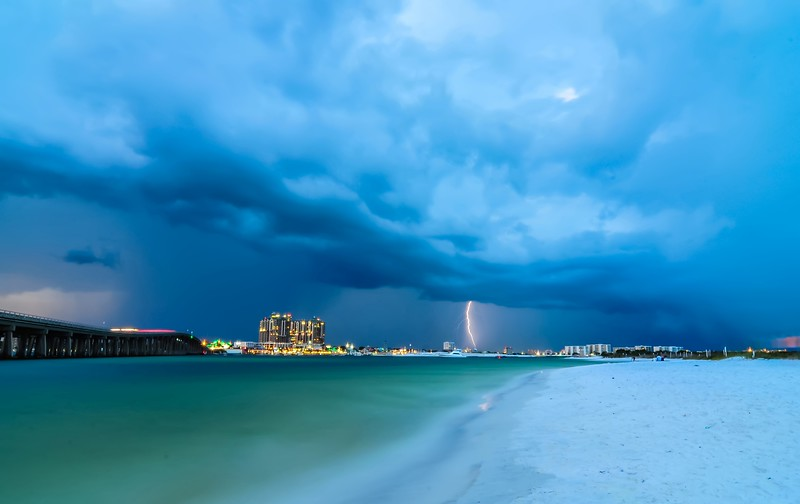 stormy clouds over destin florida