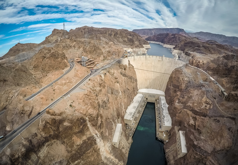 on Hoover Dam at Lake Mead