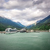 port of skagway alaska near white pass british columbia canada