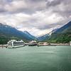 port of skagway alaska near white pass british columbia canada