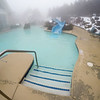 outdoor hot tub spa and pool in winter season