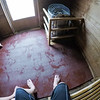 inside old dry sauna relaxing