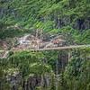 driving through white pass highway in alaska to british columbia