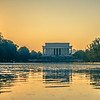 lincoln memorial landmark at sunset in washington dc