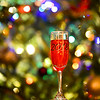 Champagne or wine 2018 glass  on sparkling background