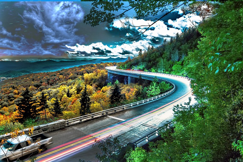 Linn Cove Viaduct day versus night