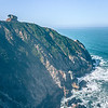 Devil's Slide sheer cliffs and pacific coast in San Mateo County California