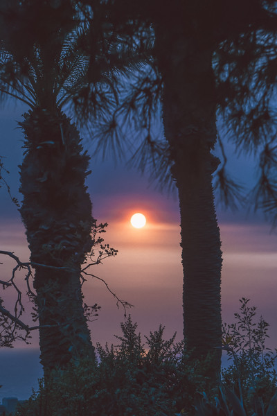 beautiful sunset in santa monica california