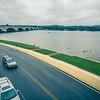 Downtown of Arlington in Virginia and Potomac River