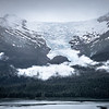 alaska roky mountains and valley of glaciers